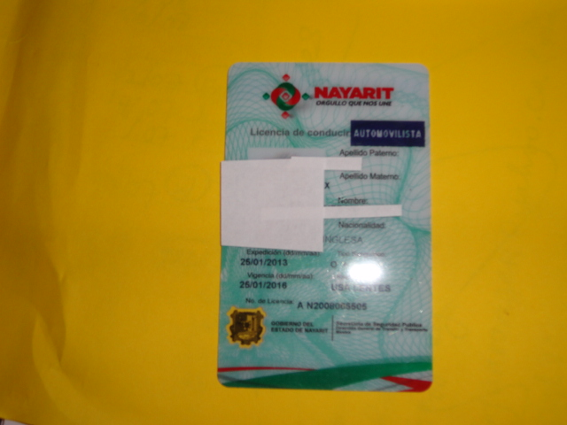 Liability Car Insurance >> Nayarit Driver's Licence | Amigos de Bucerias AC
