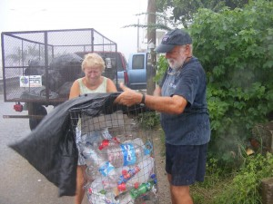 recycling in the rain - again