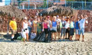 First beach clean up